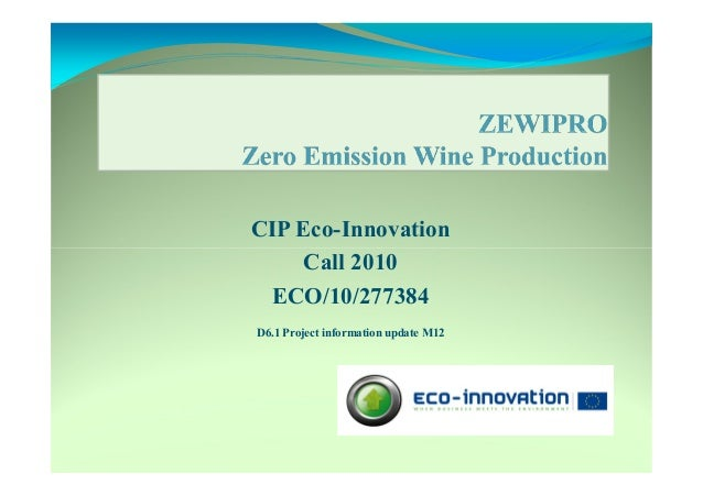 CIP Eco-Innovation Call 2010 ECO/10/277384 D6.1 Project information update M12