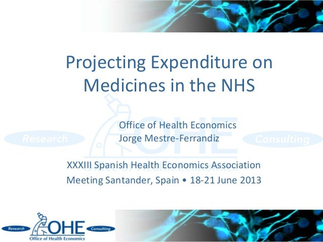 Projecting Medicines Expenditures in the English NHS Mestre-Ferrandiz AES 2013