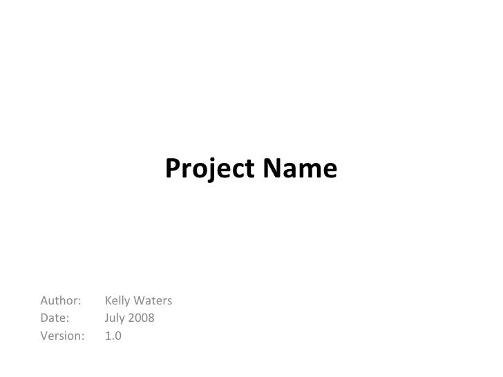 Project Initiation Presentation Template