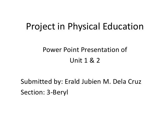 Project in physical education
