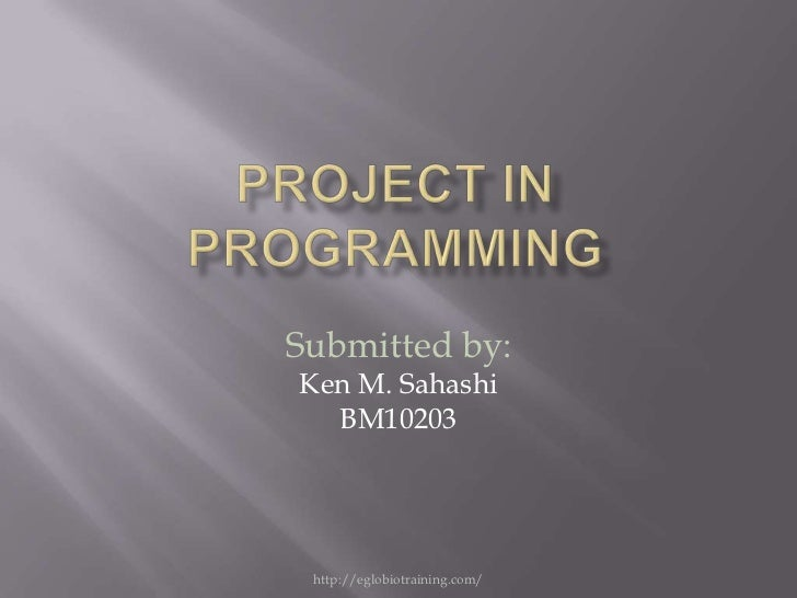 Project in programming