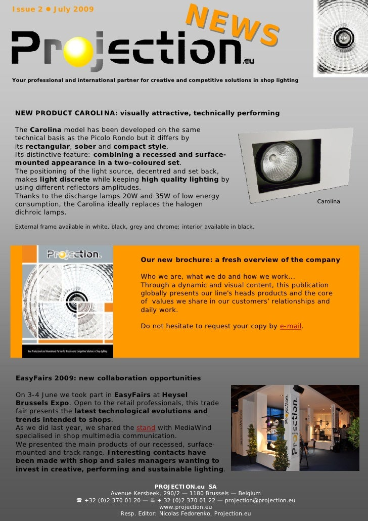 Projection.eu Newsletter