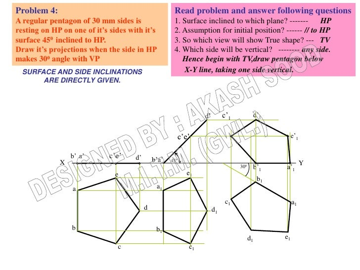 Problem 4:                                          Read problem and answer following questionsA regular pentagon of 30 mm...