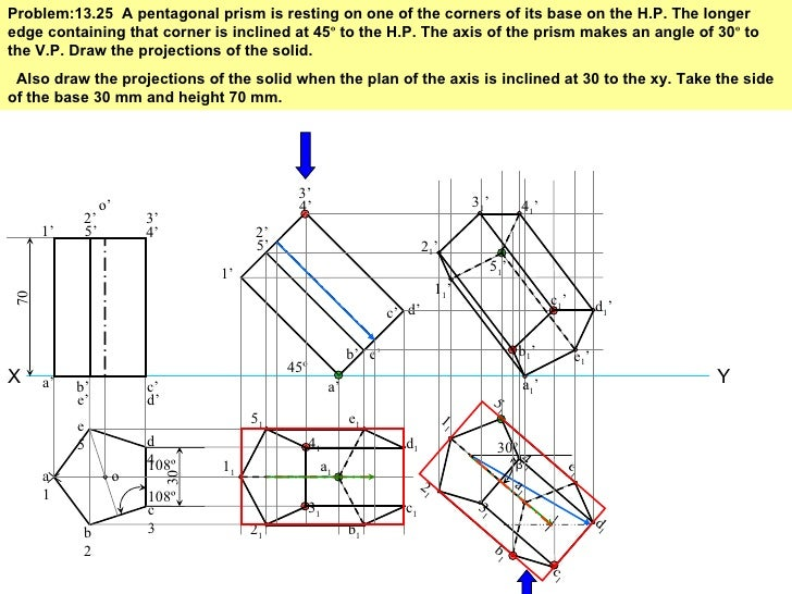 isometric projection solved problems pdf