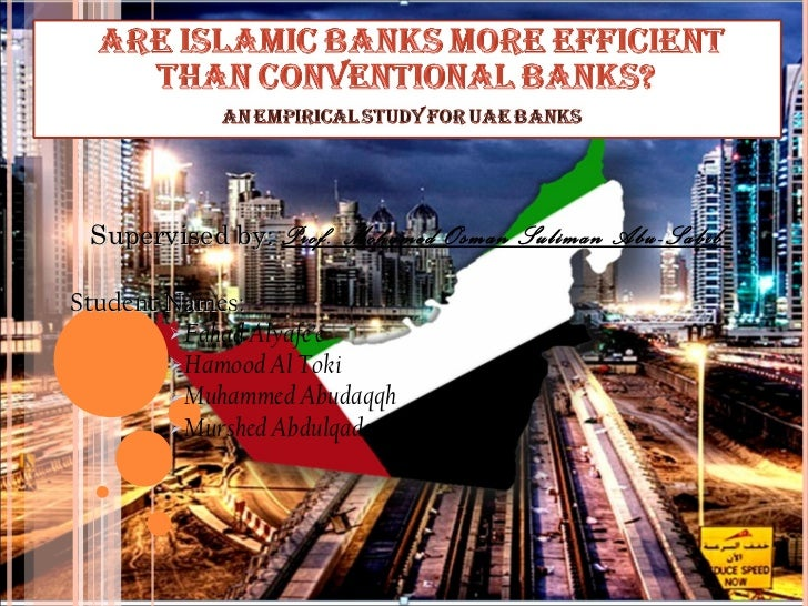 Are Islamic banks more efficient than conventional banks in UAE