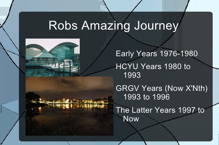 Robs Amazing Journey  <ul><li>Early Years 1976-1980