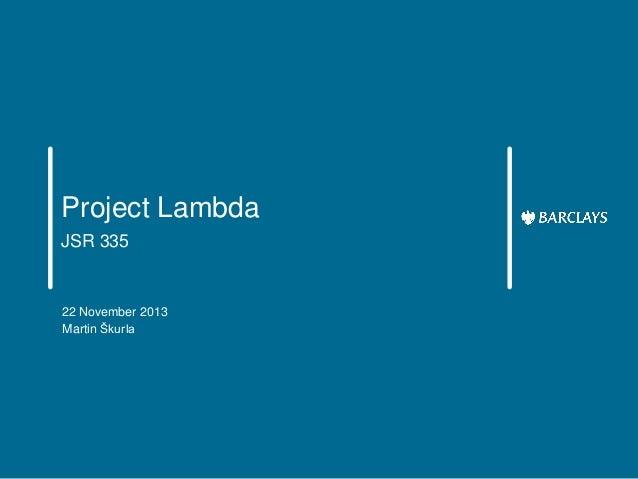 Project Lambda, JSR 335