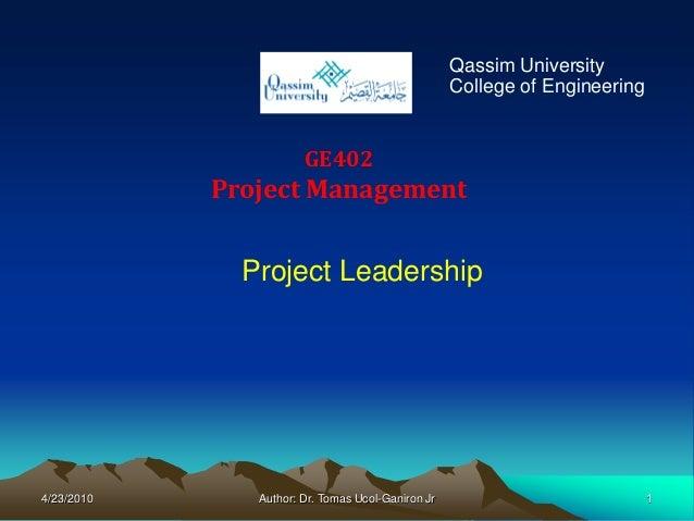 Qassim University                                                   College of Engineering                       GE402    ...