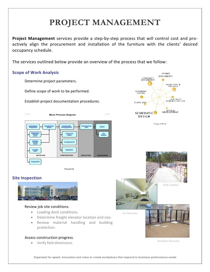 PROJECT MANAGEMENTProject Management services provide a step-by-step process that will control cost and pro-actively align...