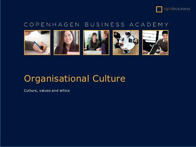 Project management - organisational culture