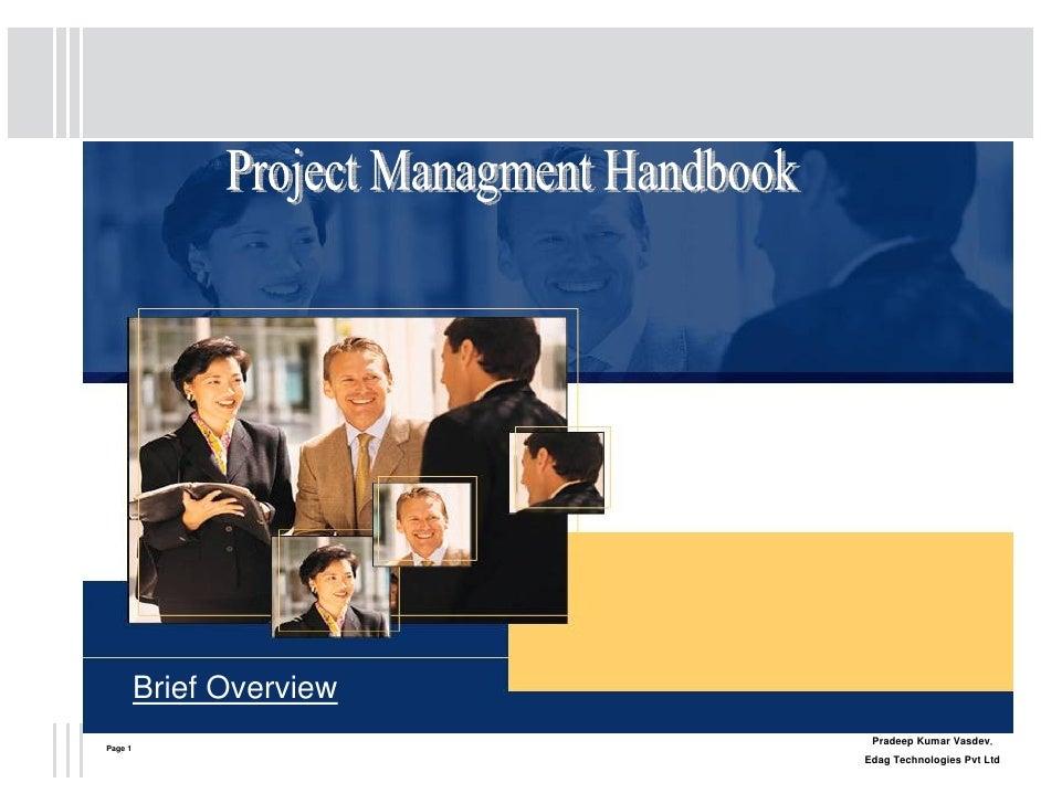 Brief Overview                            Pradeep Kumar Vasdev, Page 1                           Edag Technologies Pvt Ltd