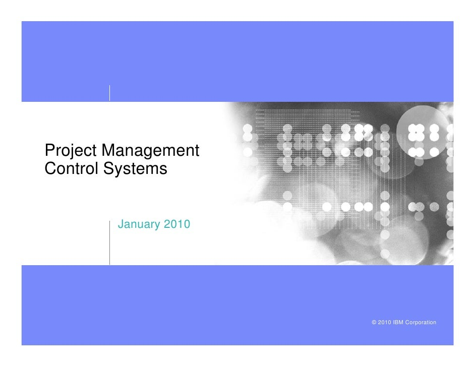 Project Management Control Systems