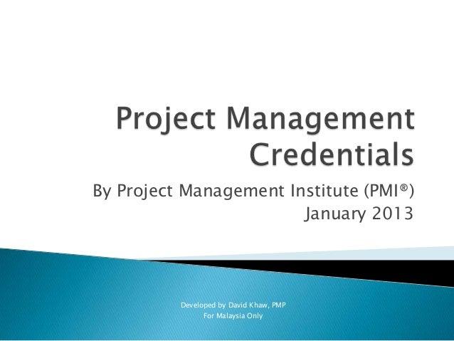 Project Management Credentials