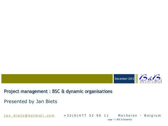 Project management dynamics