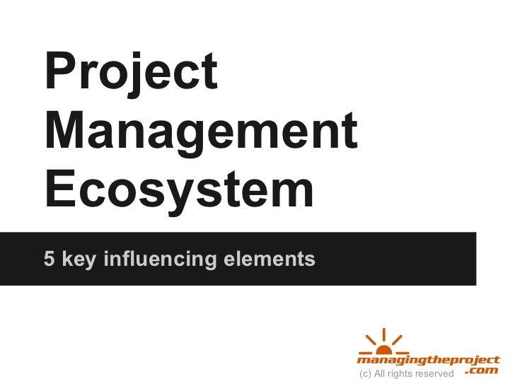 Project management Ecosystem 5 key influencing elements