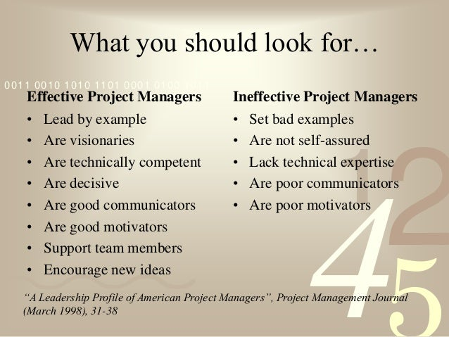 a leadership profile of american project