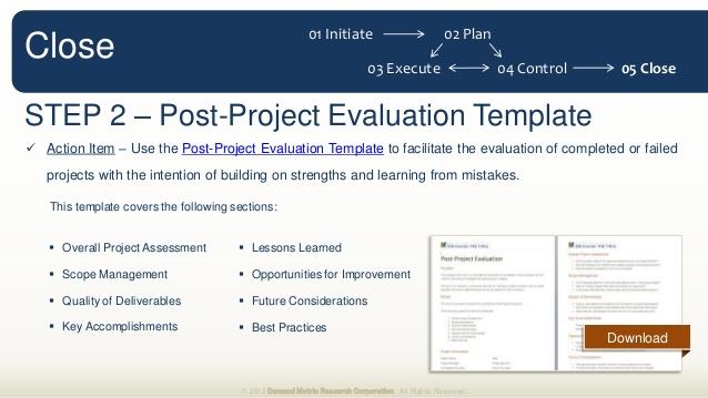Post project evaluation template trattorialeondoro maxwellsz