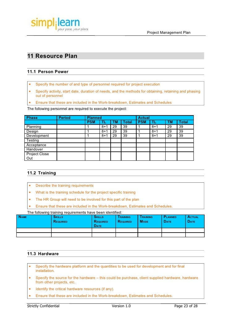 how to plan a project template