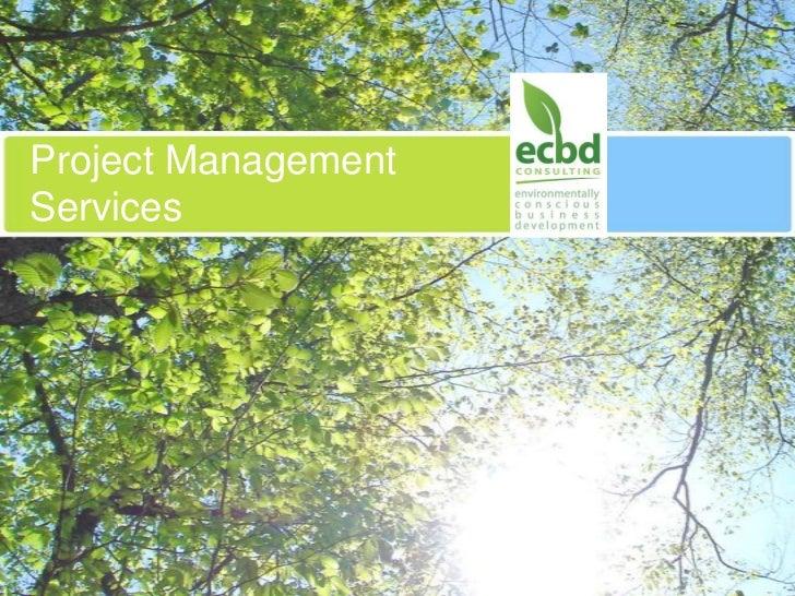 Project Management Services<br />