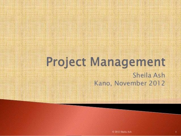 Project management session 1