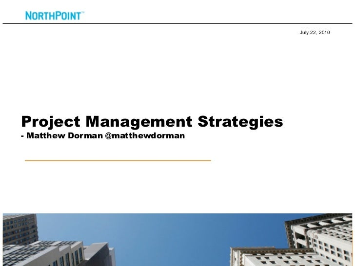 Drupal Project Management Strategies