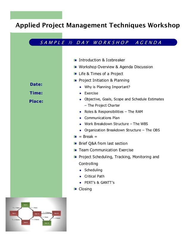 workshop agenda template samples – Workshop Agenda Example