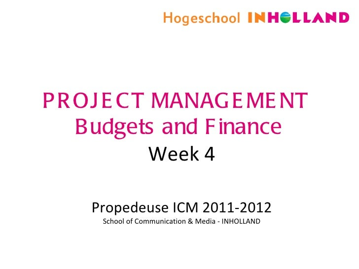 Project management week 4 for students