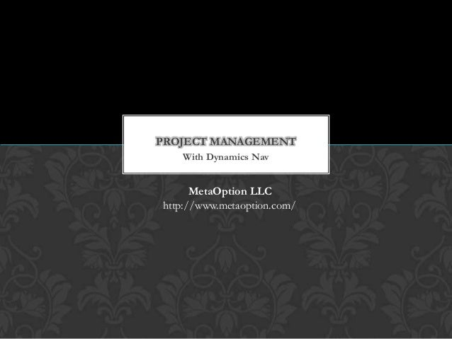 Project management dynamics nav