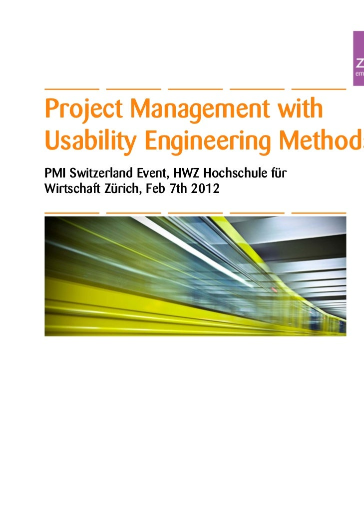 Project Management with Usability Engineering Methods