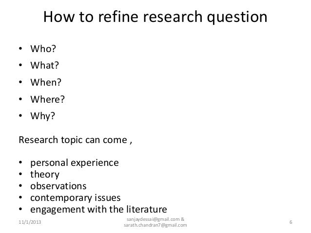 What to include in methodology