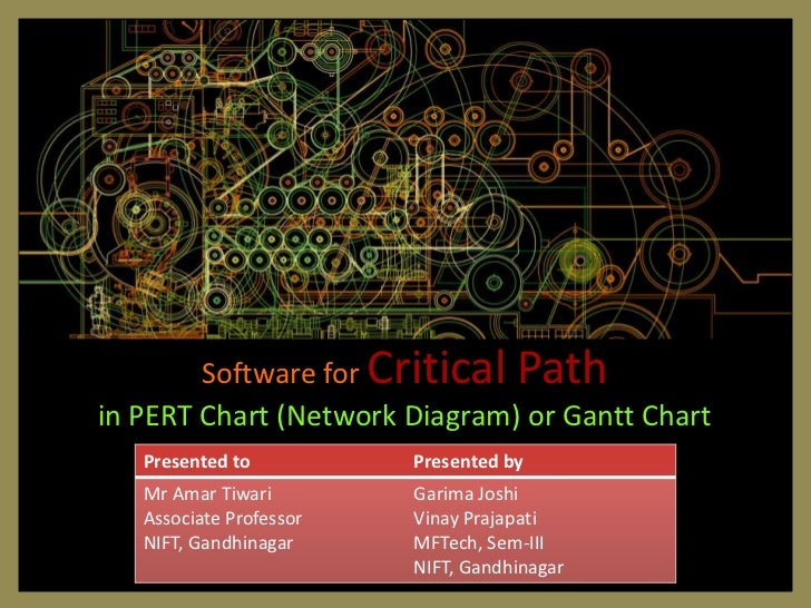Software for Critical Pathin PERT Chart (Network Diagram) or Gantt Chart   Presented to          Presented by   Mr Amar Ti...