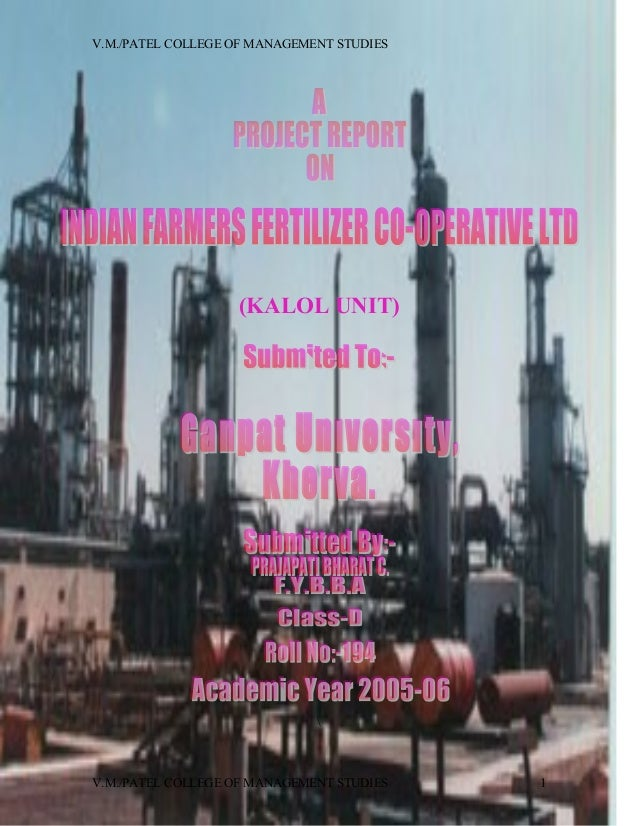 Project of iffco