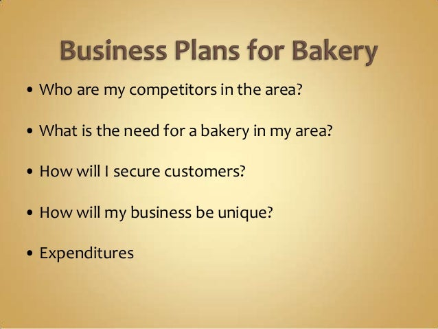 Pastries business plan sample