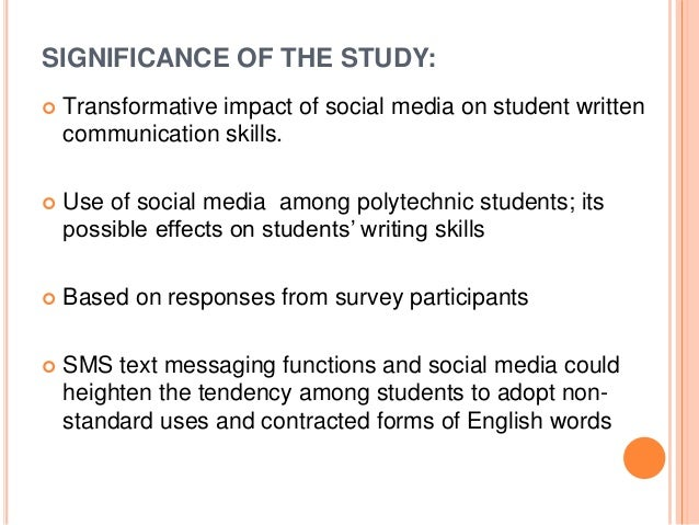 essay on impact of media on students
