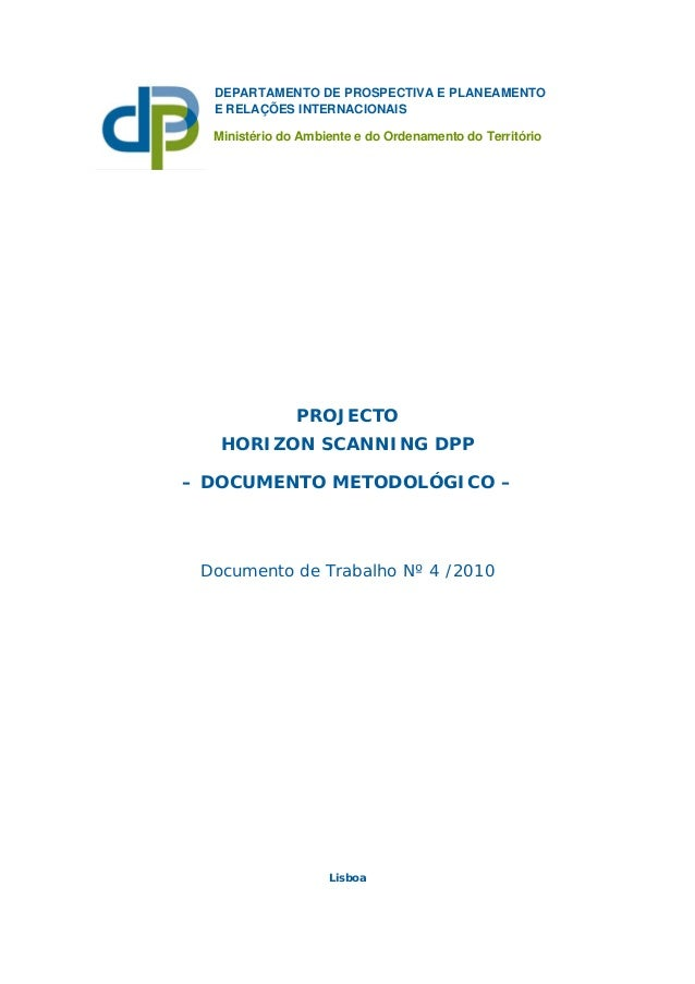 Projecto Horizon Scanning DPP - Documento Metodológico