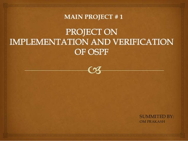 project on OSPF