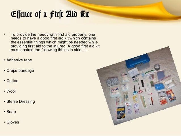 Essay on first aid box