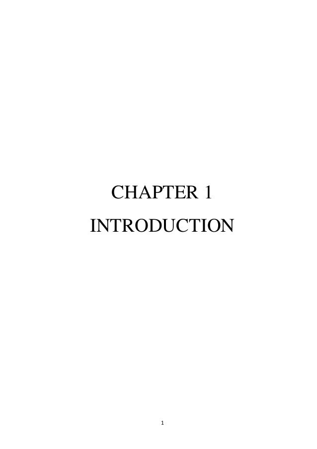 1CHAPTER 1INTRODUCTION