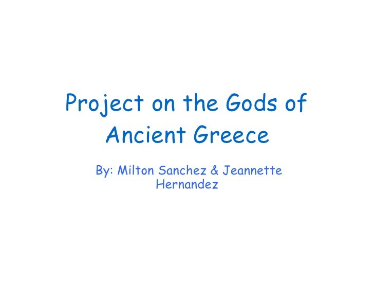 Project on the gods of ancient greece