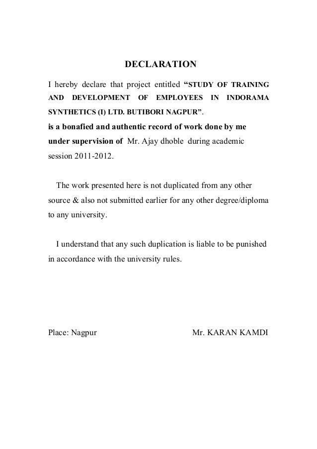 Sample Self Nomination Letter Template