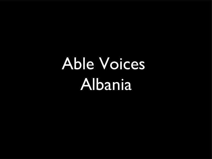 Able Voices  Albania