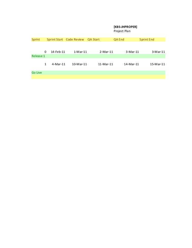 [KBS-JHPROPER]                                                                Project PlanSprint        Sprint Start Code ...