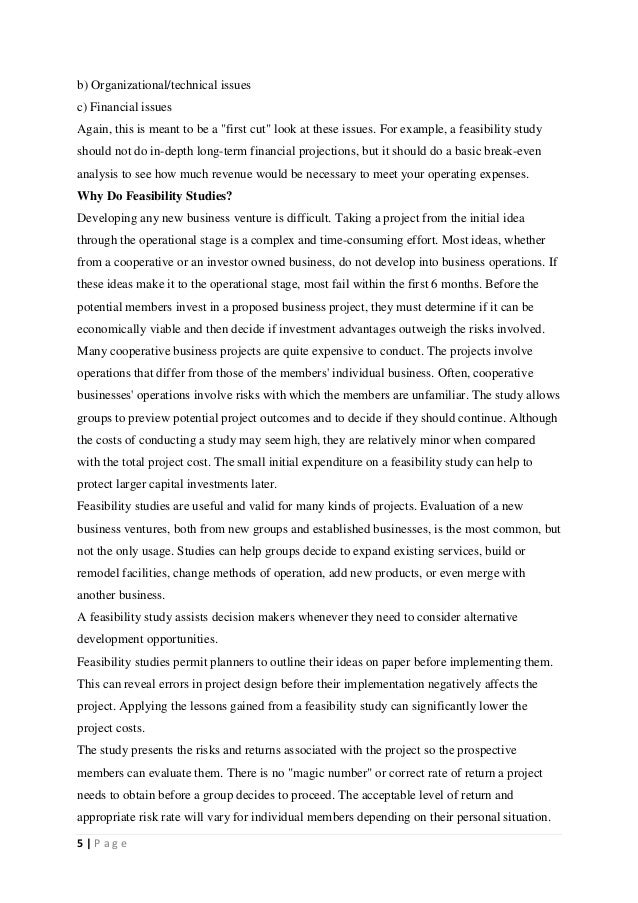 feasibility study essay Feasibility report template feasibility report template (word a feasibility report is a document that assesses potential solutions to the business.