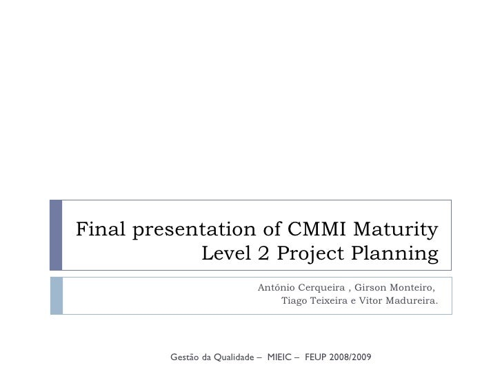 CMMI Project Planning Presentation