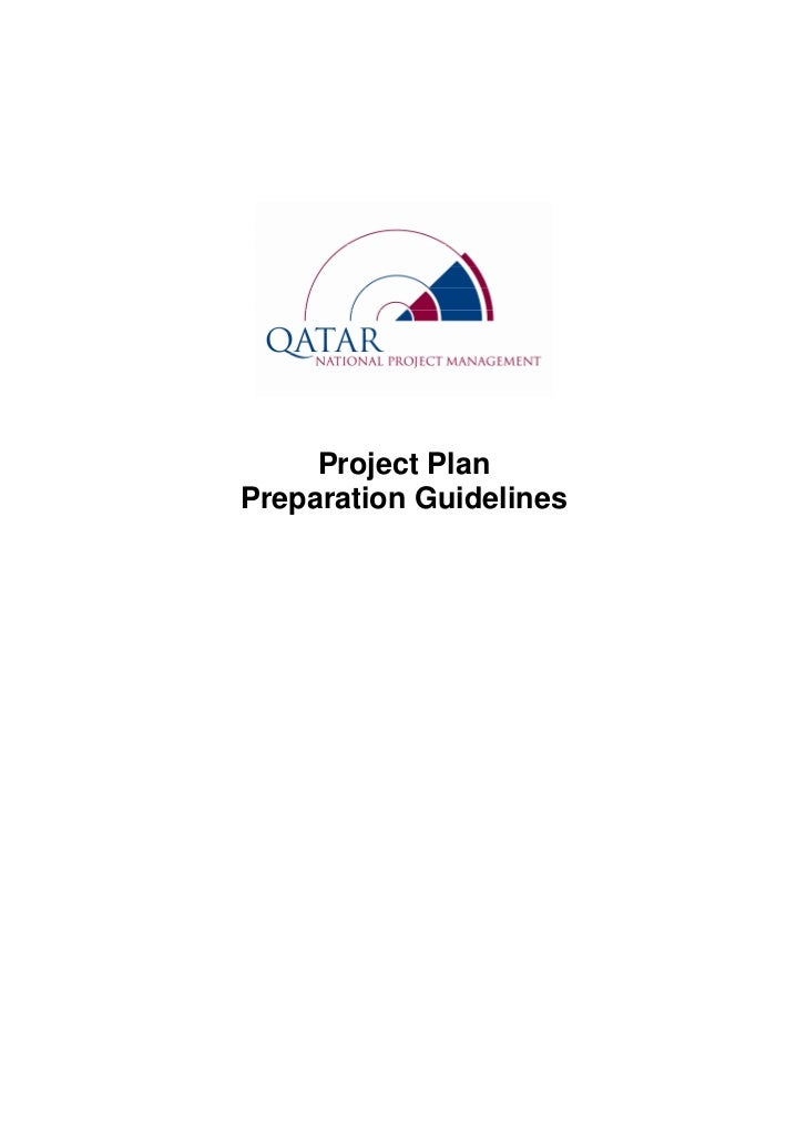 Project PlanPreparation Guidelines