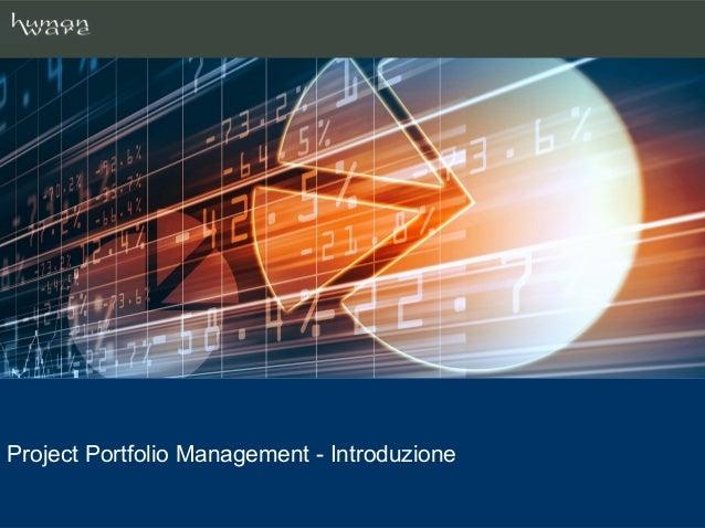 Project Portfolio Management - Introduzione