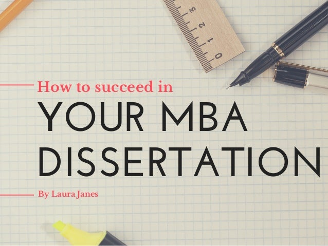 Brian white writing your mba dissertation
