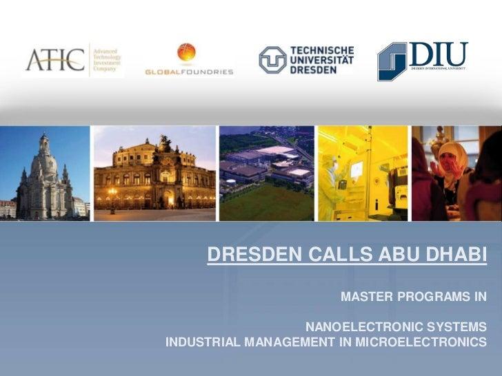 Dresden Calls Abu Dhabi