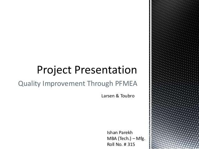 Internship Presentation - Larsen & Toubro