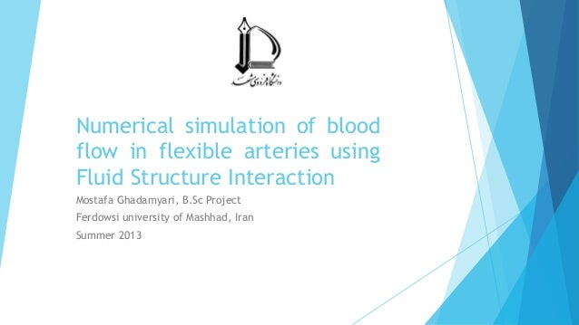 Numerical simulation of blood flow in flexible arteries using Fluid Structure Interaction Mostafa Ghadamyari, B.Sc Project...